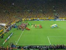 Brazilië versus de Federatieskop 2013 van Spanje - van FIFA Stock Foto