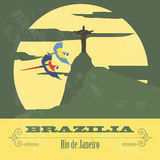 Brazilia landmarks. Retro styled image Stock Photo