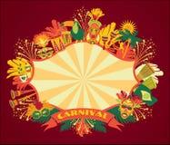 Braziliaans Carnaval Vector kleurrijke achtergrond royalty-vrije illustratie