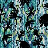 Braziliaans Carnaval Vector naadloos patroon Stock Afbeelding