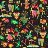 Braziliaans Carnaval Vector naadloos patroon vector illustratie