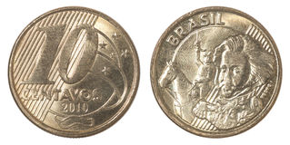 Braziliaans centavosmuntstuk Royalty-vrije Stock Foto