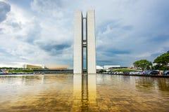 Braziliaans Nationaal Congres (Congresso Nacional) in Brasilia, Brazilië Stock Foto