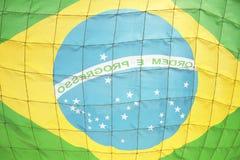 Braziliaans Netto de Voetbaldoel van het Vlagvoetbal royalty-vrije stock afbeeldingen