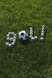 Braziliaans Voetbaldoel Gol Message Made met Voetballen Royalty-vrije Stock Fotografie