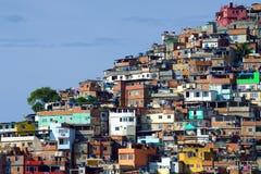 Braziliaanse favela, Rio de Janeiro Royalty-vrije Stock Fotografie