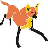 Braziliaanse guara-wolf vector illustratie