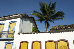 Braziliaanse Koloniale Architectuur Paraty Brazilië Stock Fotografie