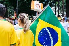 Braziliaanse menigte Royalty-vrije Stock Foto