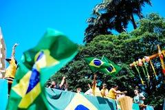 Braziliaanse menigte Royalty-vrije Stock Afbeelding