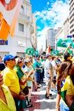 Braziliaanse menigte Royalty-vrije Stock Afbeeldingen