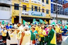 Braziliaanse menigte Stock Afbeelding