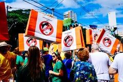 Braziliaanse menigte Stock Foto's