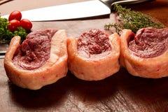 Braziliaanse Picanha Ruw vlees Stock Foto's
