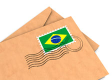 Braziliaanse post Stock Foto
