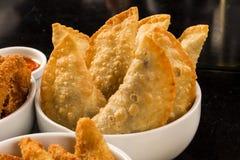 Braziliaanse snack Vleesgebakje met kaas Royalty-vrije Stock Afbeelding