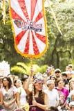 Braziliaanse straatparade Stock Fotografie