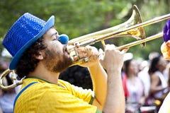 Braziliaanse straatparade Stock Afbeeldingen