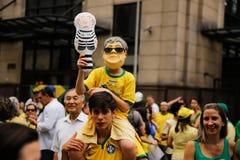 Braziliaanse straatprotesten Royalty-vrije Stock Foto's
