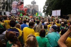 Braziliaanse straatprotesten Royalty-vrije Stock Afbeeldingen