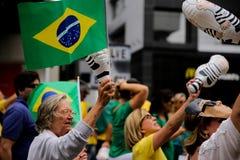 Braziliaanse straatprotesten Stock Foto's