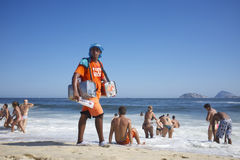 Braziliaanse Strandverkoper Rio de Janeiro Brazil Royalty-vrije Stock Foto