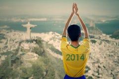 Braziliaanse ventilators die handen slaan royalty-vrije stock foto's