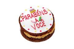 Braziliaanse verjaardagscake stock foto