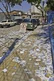 Braziliaanse Verkiezingen 2012 - Vuile stad Stock Foto