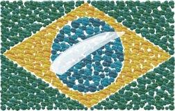Braziliaanse Vlag Stock Illustratie