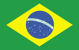 Braziliaanse vlag   Stock Foto
