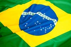 Braziliaanse vlag Stock Afbeeldingen