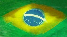 Braziliaanse vlag Royalty-vrije Stock Foto's