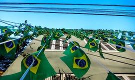 Braziliaanse Vlaggen - Wereldbeker 2014 Stock Afbeelding
