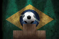 Braziliaanse voetbal op het podium Royalty-vrije Stock Foto's