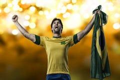 Braziliaanse voetballer Stock Fotografie