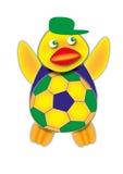 Braziliaanse Voetbalventilator Royalty-vrije Stock Afbeelding