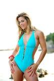 Braziliaanse vrouw op het strand Royalty-vrije Stock Foto's