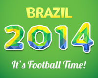 Brazilian 2014. Vector illustration for sport Royalty Free Stock Image