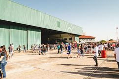 Brazilian air base warehouse. stock photos