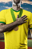 Brazilian Athlete Celebrating Stock Photography