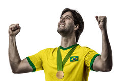 Brazilian Athlete Celebrating Royalty Free Stock Photos