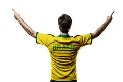 Brazilian Athlete Celebrating Royalty Free Stock Photo