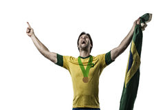 Brazilian Athlete Celebrating Royalty Free Stock Photography