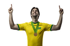 Brazilian Athlete Celebrating Stock Image