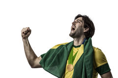 Brazilian Athlete Celebrating Royalty Free Stock Image