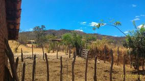 "Brazilian Northeast ""sertão"" Farm Landscape. And beatiful sky stock photography"
