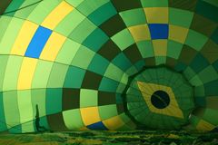 Brazilian balloon. An internal view from a hot air balloon Royalty Free Stock Images