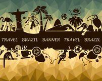 The Brazilian banner Stock Photo