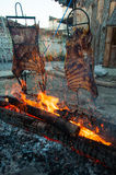 Brazilian Barbecue also known as Churrasco made by Gauchos, Braz Royalty Free Stock Photo